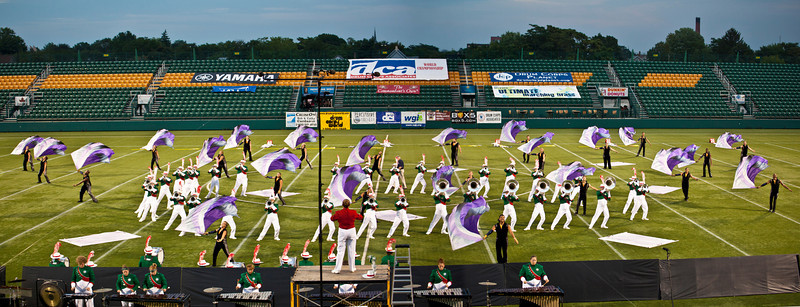 CorpsVets action panorama, 2011 DCA World Championships, Rochester, NY