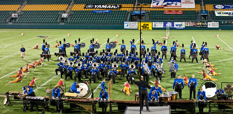 Minnesota Brass action panorama, 2011 DCA World Championships, Rochester, NY