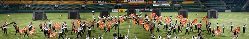 Empire Statesmen action panorama, 2011 DCA World Championships, Rochester, NY