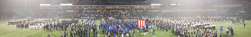 2011 DCA World Championships Retreat Ceremony.... In pouring rain from the other side of the stands.