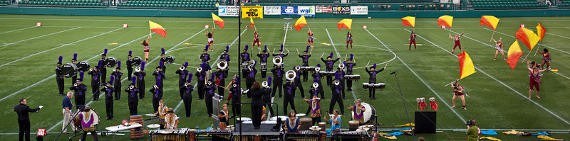Fusion Core action panorama, 2011 DCA World Championships, Rochester, NY