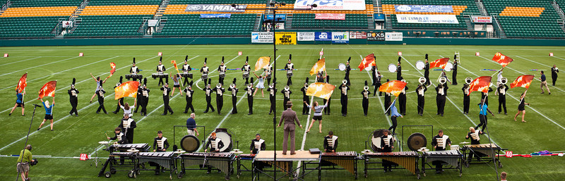 Carolina Gold action panorama, 2011 DCA World Championships, Rochester, NY