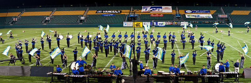 Buccaneers action panorama, 2011 DCA World Championships, Rochester, NY  (cropped image)