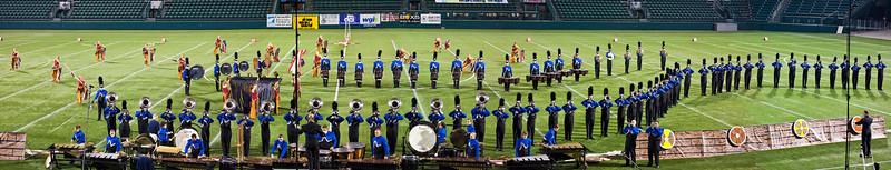 Minnesota Brass action panorama, 2011 DCA World Championships, Rochester, NY