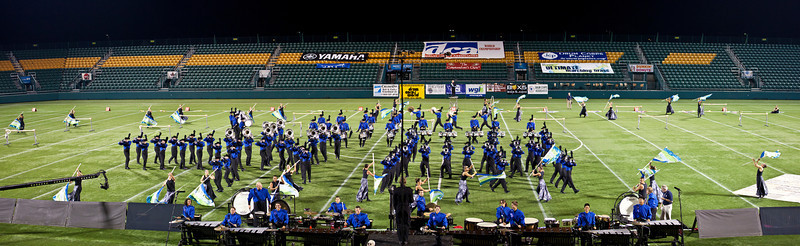 Buccaneers action panorama, 2011 DCA World Championships, Rochester, NY