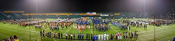 2011 DCA World Championships Retreat Ceremony.... In pouring rain.
