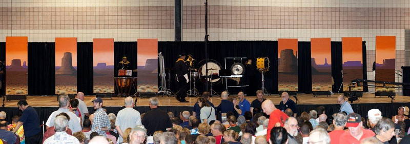 Ghost Riders, 2011 DCA Mini Corps World Championships.   NOTE! the back drop image was hand painted from one of my images from Monument Valley.
