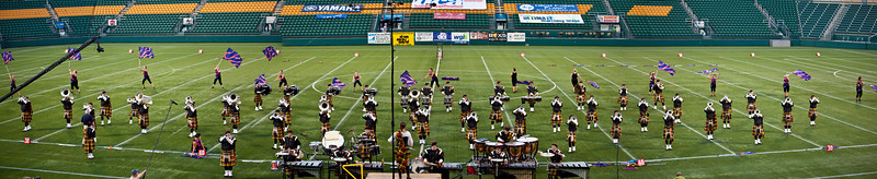 Kilties action panorama, 2011 DCA World Championships, Rochester, NY