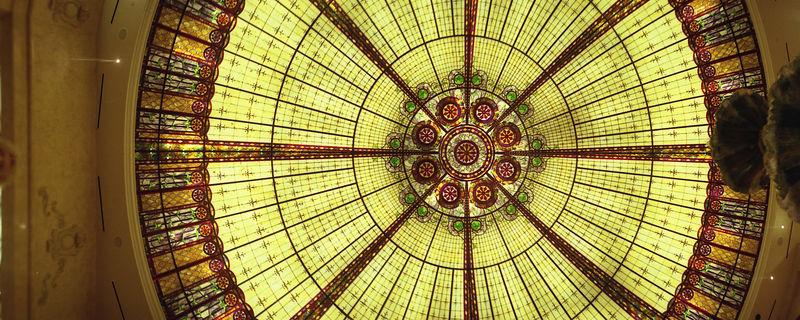 Glass skylight in Bally's