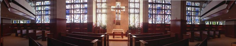 St. Vincent's Hospital Chapel from the inside. This is two frames with the Horizon 202