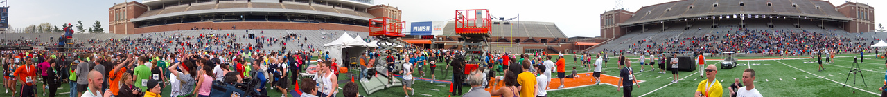 p158-1-p158-8half  Finish Time 2:33:08 Illinois Marathon 2011 Memorial Stadium Finish Line