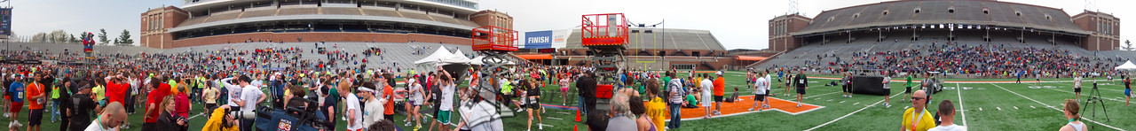 p157-1-p157-8half  Finish time 2:32:27 Illinois Marathon 2011 Memorial Stadium Finish Line