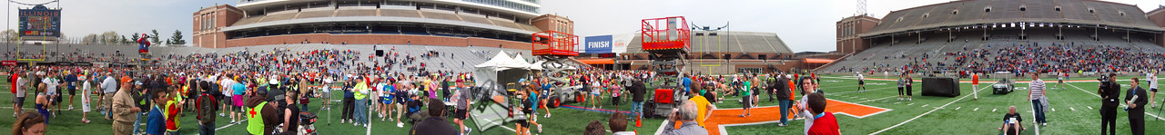 p144-1-p144-8half Finish Time  2:26:31 Illinois Marathon 2011 Memorial Stadium Finish Line