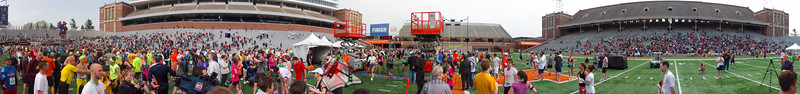p163-1-p163-8half  Finish Time 2:35:38 Illinois Marathon 2011 Memorial Stadium Finish Line
