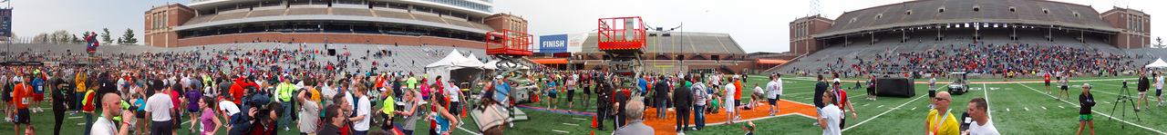 p154-1-p154-8half Finish Time 2:30:48 Illinois Marathon 2011 Memorial Stadium Finish Line
