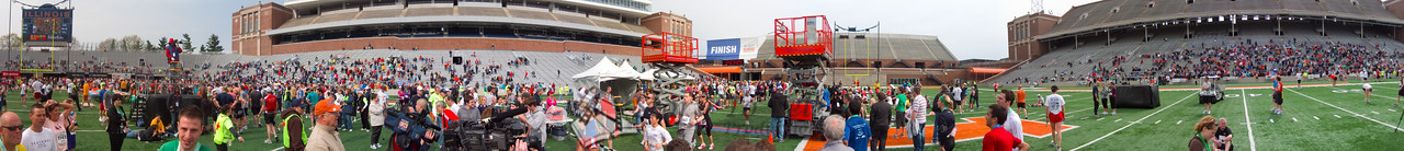 p148-1-p148-8half  Finish Time 2:27:25 Illinois Marathon 2011 Memorial Stadium Finish Line