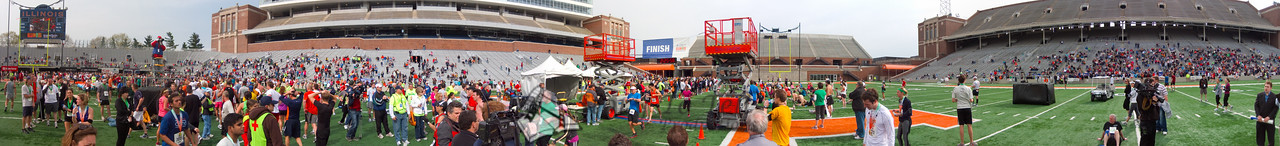 p141-1-p141-8half  Finish Time 2:25:56 Illinois Marathon 2011 Memorial Stadium Finish Line
