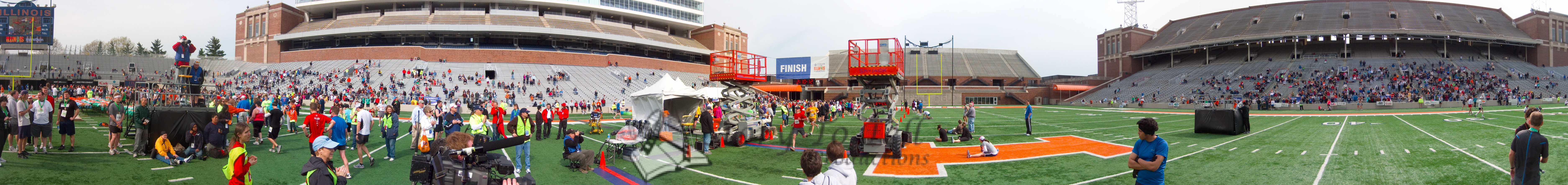 p124-1-p124-8half  Finish time 2:10:12 Illinois Marathon 2011 Memorial Stadium Finish Line