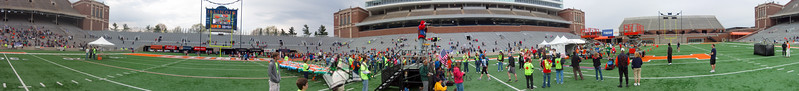 p105-1-p105-8half  Finish Time 1:23:46 Illinois Marathon 2011 Memorial Stadium Finish Line