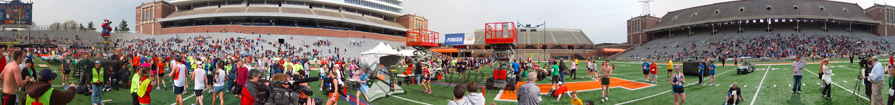 p139-1-p139-8half  Finish Time 2:23:26 Illinois Marathon 2011 Memorial Stadium Finish Line