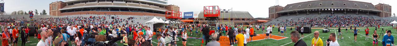 p159-1-p159-8half  Finish Time 2:33:47 Illinois Marathon 2011 Memorial Stadium Finish Line