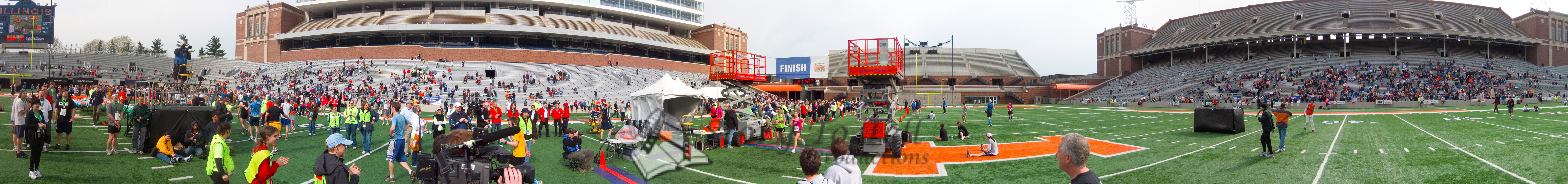 p126-1-p126-8half  Finish Time 2:11:23 Illinois Marathon 2011 Memorial Stadium Finish Line