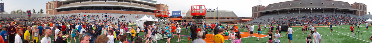 p161-1-p161-8half  Finish Time 2:35:02 Illinois Marathon 2011 Memorial Stadium Finish Line