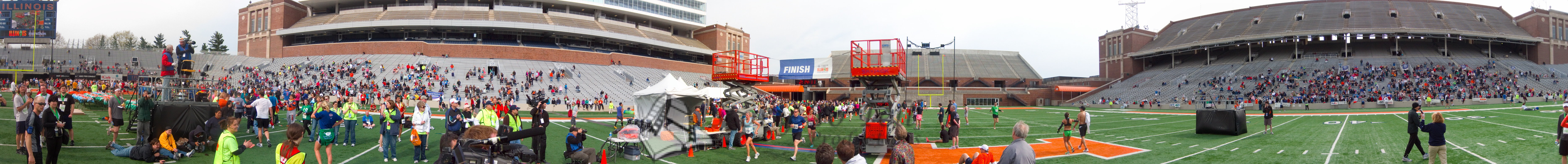 p131-1-p131-8half  Finish time 2:14:11 Illinois Marathon 2011 Memorial Stadium Finish Line