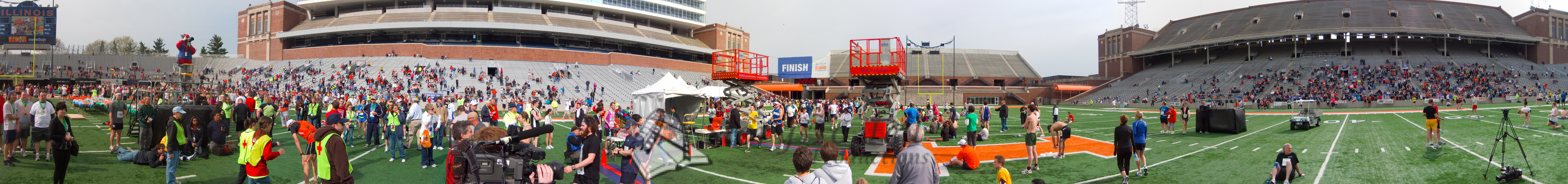 p138-1-p138-8half  Finish Time 2:22:20 Illinois Marathon 2011 Memorial Stadium Finish Line