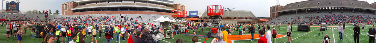 p142-1-p142-8half  Finish Time 2:26:13 Illinois Marathon 2011 Memorial Stadium Finish Line