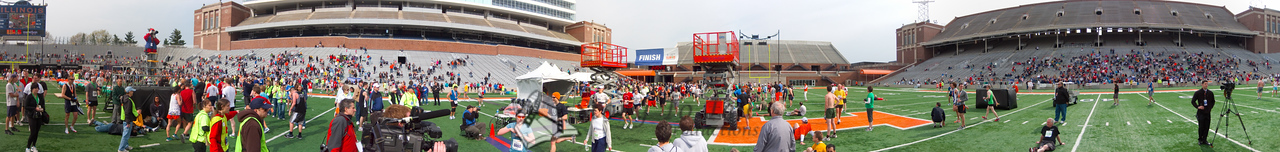 p136-1-p136-8half  Finish Time 2:20:23 Illinois Marathon 2011 Memorial Stadium Finish Line
