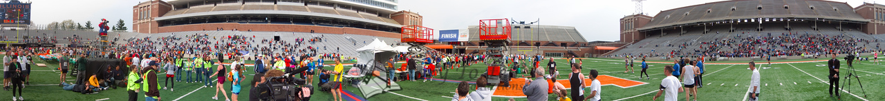 p134-1-p134-8half  Finish Time 2:17:10 Illinois Marathon 2011 Memorial Stadium Finish Line