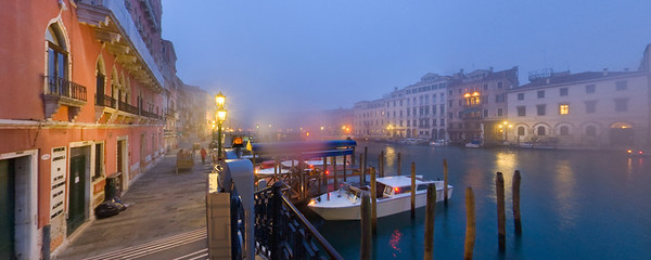 Misty Grand Canal Panoramic