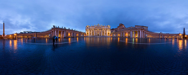 St. Peter's Square in the Rain