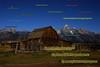 Mormon Row barn at moonrise