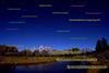 Grand Tetons along the Snake River after moonrise