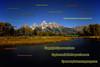 Grand Tetons over the Snake River