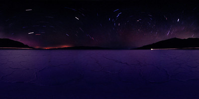 Star Trails Above Badwater Basin - Analog