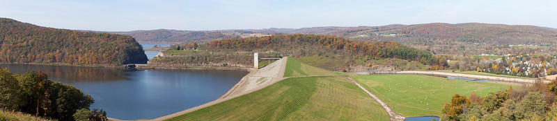 Tioga Dam located just off US rt 15 in Autumn. Chemung River.