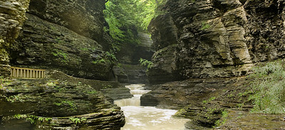 Watkins Glen step falls pan panorama
