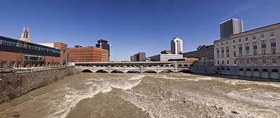 genesee  river downtown panorama
