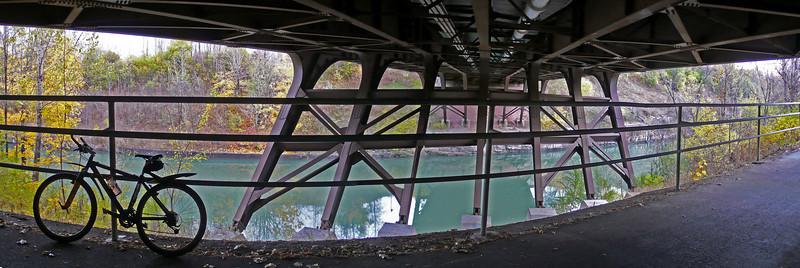 Under Brooks ave. Bridge_Panorama1 panorama