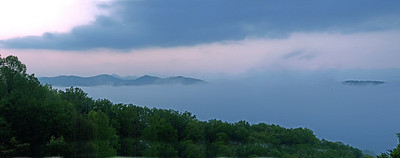 Before sunrise Panorama Smoky  Mountains
