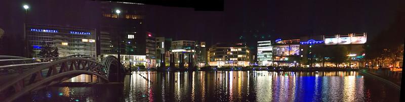 Media Park Cologne, at night