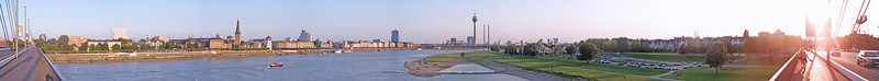 Panorama Duesseldorf, second Rhine bridge