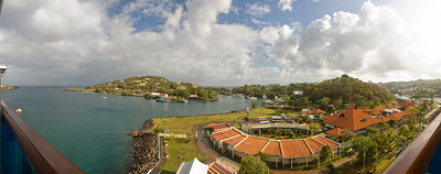 St Lucia Harbor 2008 from the Crown Princess © Harvey Cooper 2008