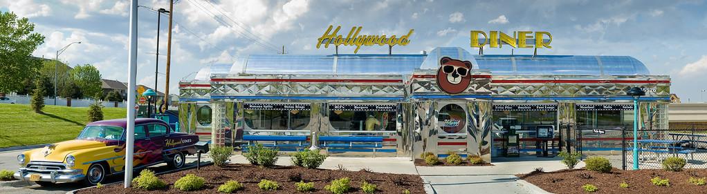 Hollywood Diner, Omaha, Hi-res photo mosaic © Harvey Cooper 2009