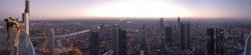 Main Tower viewer - evening pano, Frankfurt/Main
