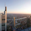 Main Tower view - sunset pano, Frankfurt/Main
