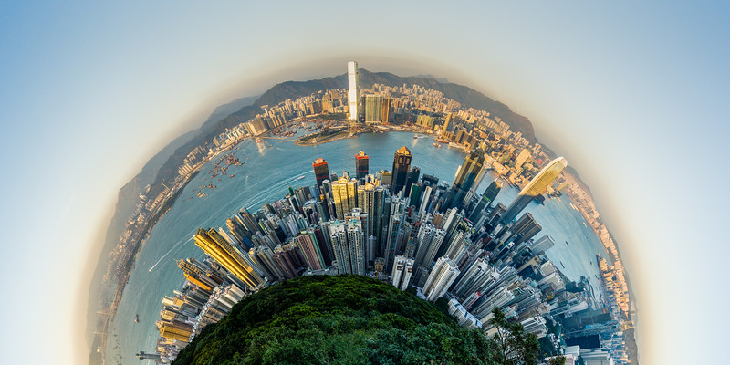Hong Kong: A Bird's Eye View<br /> Hong Kong, People's Republic of China<br /> 2015<br /> (Stitched Panorama)